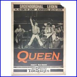 Queen 1986 Groenoordhallen Leiden Concert Poster (Netherlands)