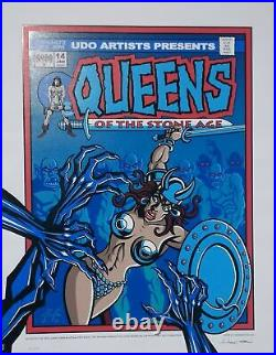 Queens of the Stone Age Concert Poster Justin Hampton Tokyo 2003
