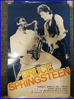 RARE Original 1981 Bruce Springsteen Market Square Arena Concert Poster 12.5x20