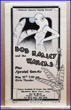 RARE Original Bob Marley & the Wailers concert poster. May 25, 1976. Exceptional