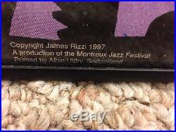 RARE Original James Rizzi MONTREUX JAZZ FESTIVAL 1997 Concert Poster Framed