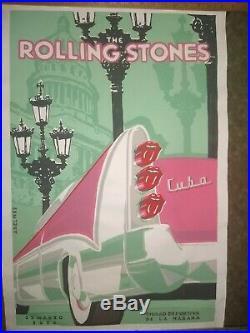 RARE Rolling Stones Cuba Concert Poster Original March 25 2016
