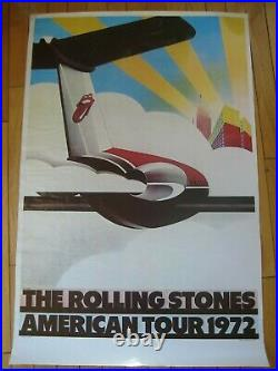 ROLLING STONES 72 EXILE ON MAIN ST TOUR ORIGINAL CONCERT POSTER Chipmonck Jagger
