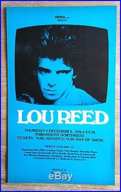 RaRe (1976) LOU REED Velvet Underground Warhol NIKO cardboard CONCERT POSTER