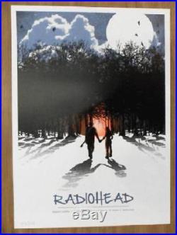 Radiohead Switzerland 2012 Concert Poster Silkscreen Original 1st Print Rare