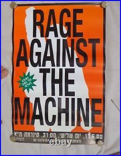 Rage Against the Machine ISRAEL CONCERT TOUR 2000 PROMO POSTER ISRAELI HEBREW