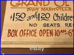 Rare HANK WILLIAMS Sr 1951 Original concert poster Rochester New York