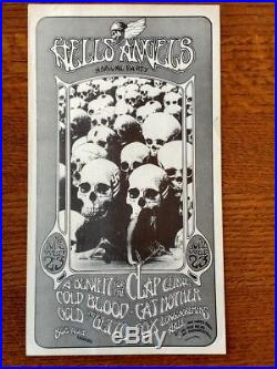 Rare Hells Angels Longshoremans Hall, Randy Tuten 1971 Concert Handbill Look