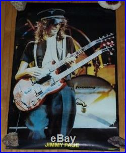 Rare Led Zeppelin 1972 Vintage Original Jimmy Page Live Concert Tour Poster Zoso