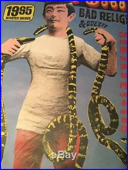 Rare Original 1995 Summer Concerts Pearl Jam Poster Bad Religion & Guests