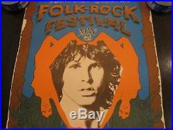 Rare Original Doors Folk Rock Festival Concert Poster 1968 Santa Clara