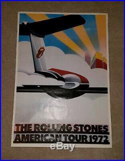Rare Original Rolling Stones American Tour 1972 Concert Poster