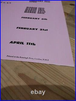 Rare Pink Floyd Nick Drake John Martyn Sandy Denny concert promo Poster ORIGINAL