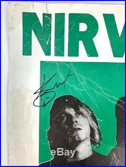 Rare Signed Original Nirvana In Utero Concert Poster Roseland Nyc 1993 Vintage