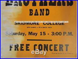 Rare original Duane-era ALLMAN BROTHERS Skidmore College concert poster 1971