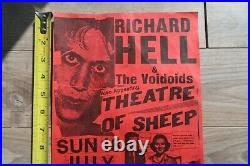 Richard Hell & The Voidoids Original Poster from 1982 Concert Portland Or
