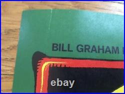 Rick Griffin BULLS EYE Vintage Original Concert Poster 1968 Fillmore West VG