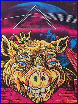 Roger Waters Us and Them Concert Poster 2017 Signed Pink Floyd Black Light Print