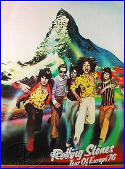 Rolling Stones 1976 European Tour Concert Poster