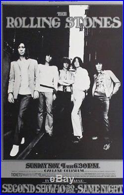 Rolling Stones Original Concert Handbill Oakland 1969 BG 201 Keith Mick