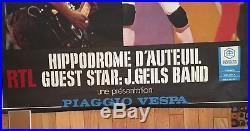 Rolling Stones Original Giant Concert Poster 6/13-14/1982 Hippodrome France