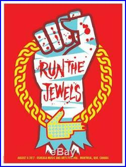 Run The Jewels Montreal 2017 Concert Poster Dan Stiles Silkscreen Original
