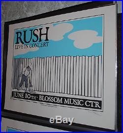 Rush Cleveland Pittsburgh 2004 concert poster set #/99 RARE Tom Sawyer fence art