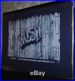 Rush Greensboro NC 2011 concert poster rare Sean Carroll art print Tom Sawyer LE