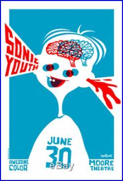 Sonic Youth Seattle Original Concert Poster 2006 Dan Stiles Silkscreen