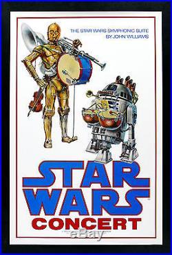 STAR WARS CineMasterpieces ORIGINAL CONCERT MOVIE POSTER C3PO R2D2 DROID
