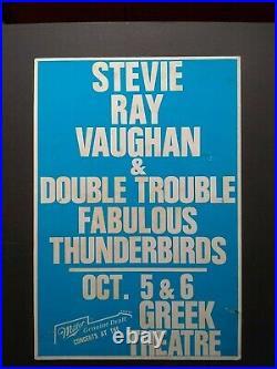 STEVIE RAY VAUGHAN / FABULOUS THUNDERBIRDS OG Promo Concert Poster 1988 Jimmie