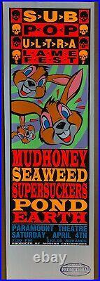 SUB-POP Ultra Lame Fest 1992 CONCERT POSTER Seaweed MUDHONEY Supersuckers KOZIK