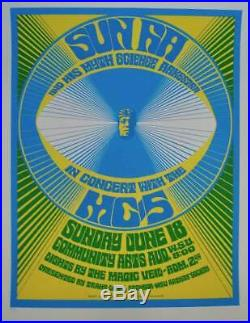 SUN RA ARKESTRA MC5 1967 DETROIT concert poster GARY GRIMSHAW R18 RARE