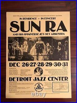 SUN RA & HIS OMNIVERSE JET-SET ARKESTRA Concert Poster DETROIT 1980 RARE ORIGINL