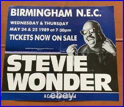 Six Original Earth Wind and Fire Stevie Wonder soul concert posters 1980s 90s