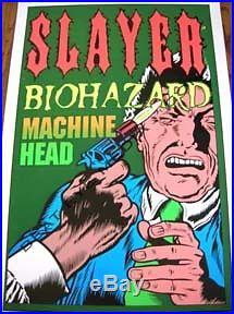 Slayer Concert Poster-taz, Kozik, Juxtapoz, Coop, Megadeth