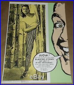 Sleater Kinney Yeah Yeah Yeahs Quakes concert poster Art Chantry signed