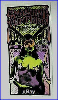 Smashing Pumpkins'97 Original Concert Poster Fountains of Wayne Signed Arminski