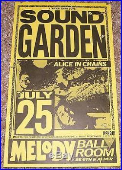 Soundgarden Alice In Chains Melody Ballroom original concert poster flyer 1990