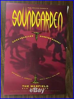 Soundgarden Chris Cornell San Francisco 1992 Warfield Concert Poster Original