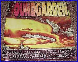 Soundgarden Mercer Arena Seattle concert poster Kozik 1996
