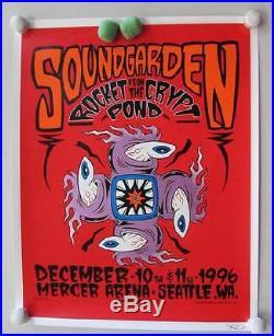 Soundgarden Seattle 1996 Concert Poster Silkscreen Forbes Original Chris Cornell