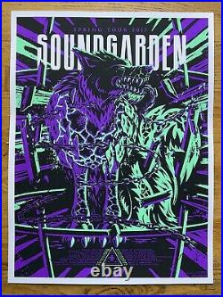 Soundgarden Spring Tour 2017 Original Silkscreen Concert Poster Chris Cornell