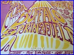 Spectacular Vintage 1967 Buffalo Springfield Original Rock Dance Concert Poster
