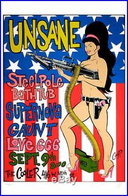 Steelepole Bathtub Unsane 1995 Original Silkscreen Concert Poster Coop S/N