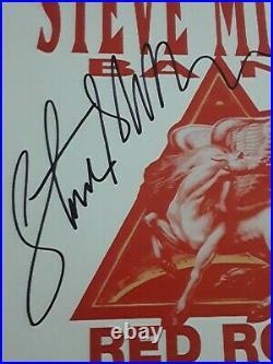 Steve Miller Signed Red Rocks Concert Flyer Proof
