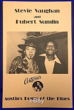 Stevie Ray Vaughn Antones Austin Texas 1982 ORIGINAL Poster Vulcan Gas Rare