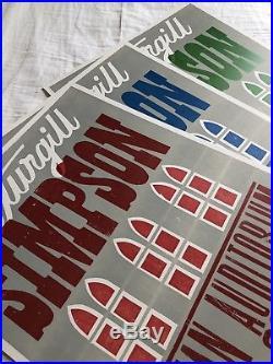 Sturgill Simpson 2015 Hatch Show Print Concert 3 Poster Set Ryman Nashville TN