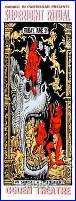 Superjoint Ritual Concert Poster 2002 Lindsey Kuhn Denver