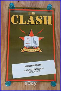 The Clash Know Your Rights Original Rolled Rock Concert Promo Poster (1981)